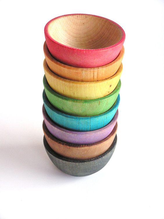 Детская деревянная игрушка конструктор - Nesting & Stacking toys